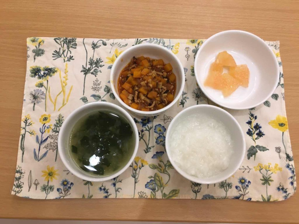 Daycare food for babies in Japan