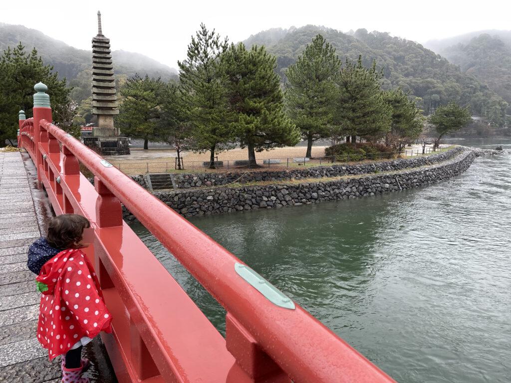 Uji in Kyoto Japan with toddler