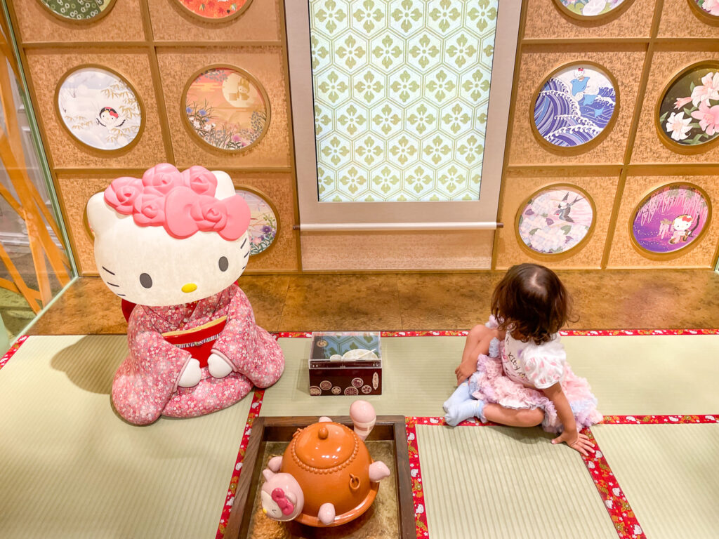 Sanrio Puroland with kids